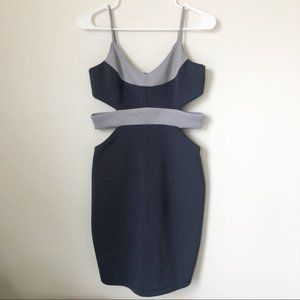 NWT Bebe Scuba Cocktail Dress with Cutouts